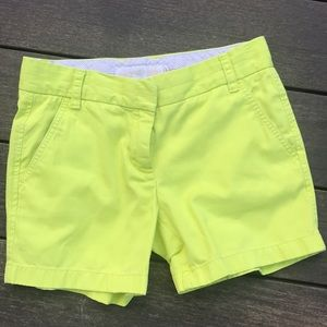 J Crew shorts neon yellow!
